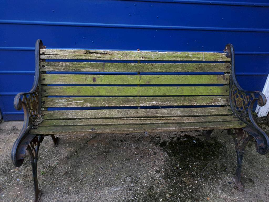 Lovely Old Cast Iron Seat Bench Restore In Norwich