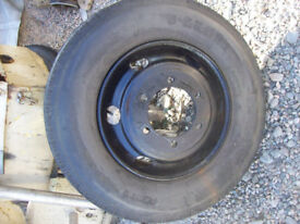 pair tyres+wheels 6 stud 8.5R x 17.5 for 7.5ton or larger