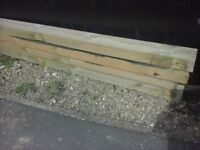 """4 lengths of 7"""" by 3"""" Timber, 4.6m in length"""