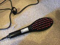Straightener brush