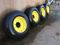 4 x rims and tyres 385/65 r22.5
