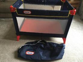 Little tykes travel cot with carry bag