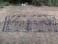 Steel double driveway gates