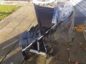 Luna mix pushchair and raincover
