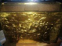 Vintage/antique Brass magazine rack £5