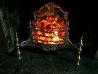 Vintage Regency Style Electric Fan Fire