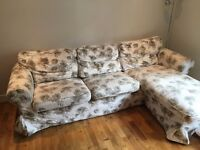 EKTORP two seat sofa and chaise longue