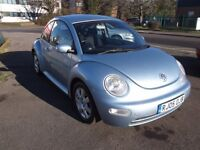 """vw beetle 2.0 petrol 2005, 05, only 74,000 miles fsh """"one lady from new""""."""