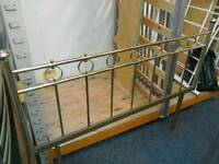 4ft 6 inch gold colour metal headboard #27645 £25