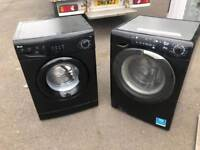 Black Candy washer dryer 8 kg 1600 spin £150 6 months warranty and one years pat test