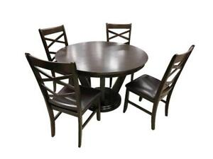 Round Wooden Dining Set with 4 chairs (BD-1750)