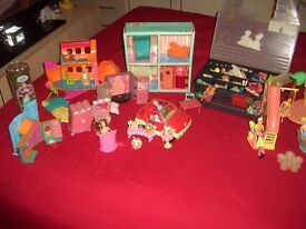 FASHION POLLY POCKETS AND STRETCHY POLLY DOLLS AND HOUSES CARS SWIMMING POOLS AND ACCESSORIES