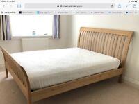 Furniture Village King Size bed frame solid oak