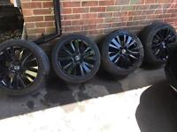 Black alloy wheels and tyres 205/50/r17 5x114.3 from MAZDA 6