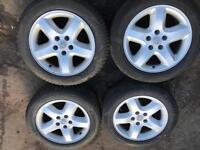 "5x110 Vauxhall alloys 5 stud wheels very good condition no marks good tyres Vauxhall Saab Alfa 16"""