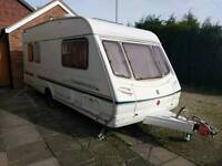 5 Berth Caravan Abbey Aventura 317 touring caravan complete with awning etc.