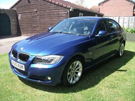 2010 BMW 320D BUSINESS EDITION SE (176) - BLUE, Low Milage, Black Leather Interior, I Drive, Sat Nav