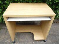 Computer Desk Wooden on Castors