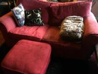 2 x 2 seater sofas and foot stool free to collector
