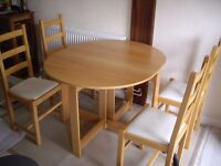 Used Foldable Dinning Table and 4 chairs