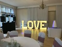 Giant LOVE Letter & Disco Hire Hire East Yorkshire