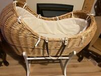 Baby basket, 5 crib sheets