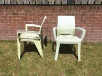 Six Outdoor Garden Chairs