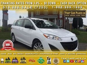 2012 Mazda MAZDA5 GS-$53/Wk-6Seater-AUX/USB/Mp3-Keyless-AlumWhls