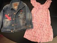 Marks and Spencers Denim Jacket and pink Playsuit 1 1/2-2yrs girls clothes.
