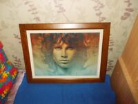 Framed print~The spirit of Jim Morrison (The Doors) by Ananda Kurt dated 1998~In Exeter