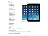 i Pad Air, never used, stuck in a box IMMACULATE condition, Silver 32GB