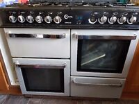 Range electic double oven, grill and 8 gas burner hob