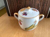 """Royal Worcester """"Evesham"""" marmite jar"""