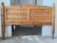 """Solid Pine Headboard for 4'6"""" Double Bed"""