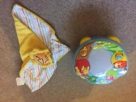 Tomy Disney Winnie The Pooh Sweet Dreams Night Light Projector Night and new lion comforter