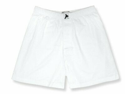 Biagio Mens Solid WHITE Color BOXER 100% Knit Cotton Shorts Cotton Boxer Knit Shorts