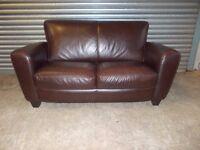 Genuine Natuzzi Italian Full Hide Leather 2-seater Sofa
