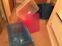 Storage plastic boxes