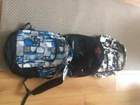 3 backpacks all as new good makes.