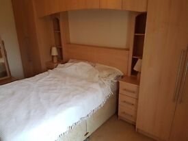 2 x double robes, bedside tables, headboard and storage