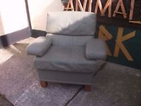 Green Leather Armchair Delivery Available £15