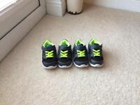 2x Nike toddler trainers
