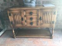 Oak sideboards with matching items