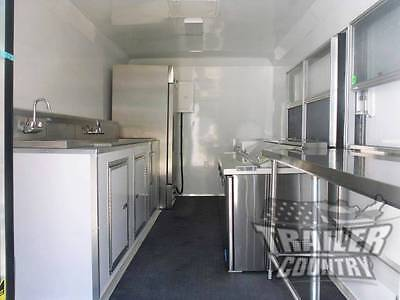 New 8.5 X 16 16 Enclosed Concession Food Vending Bbq Mobile Kitchen Trailer