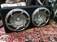 Pioneer twin subwoofer