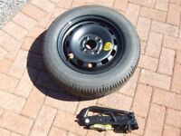 """Ford – Full Size 14"""" Spare Wheel, Jack, Wheel Wrench and Towing Eye"""