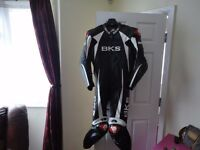 BKS one piece leather race suit