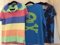 Boys aged 5-6 Ralph Lauren and two mini Boden t-shirts