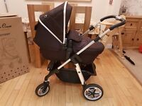 Silvercross Pioneer Black / Unisex / pushchair, carry cot - EXCELLENT CONDITION **REDUCED** to £250