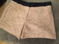French Connection tweed style shorts, size 14
